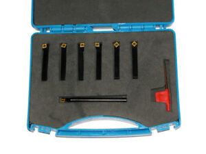 Drehmeisselset  mit Bohrstahl 7-teilig 8x8 Wendeplatten CCMT 060204 RBW0027