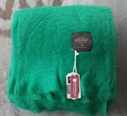 Ret Wool Blend Throw Mantas Ezcaray Mohair Green New $350