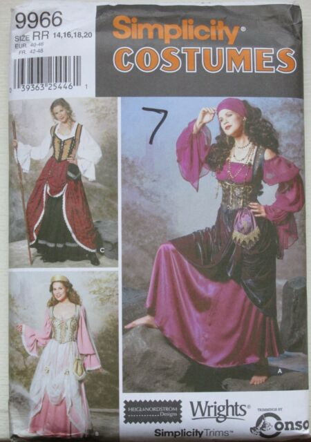 Simplicity Sewing Pattern Wench Pirate Costume Miss 14 16 18 20 22 Uncut 4914
