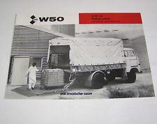 Prospekt / Broschüre DDR LKW IFA W 50 LA/LB Platform vehicle - Edition 1981 !