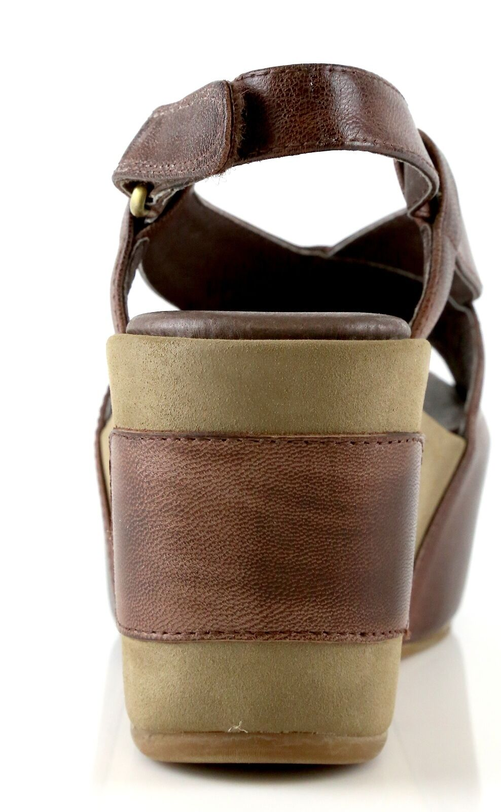Antelope braun 810 braun Antelope Leather Ankle Strap Wedge Sandals 7045 Größe 37 EU NEW bfb374