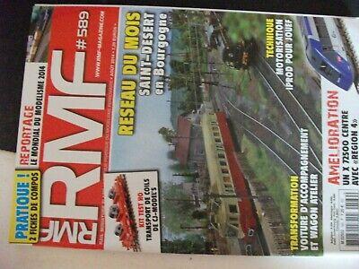 ** Revue Rmf Rail N°589 Rame Désherbeur / X 72500 / Saint Désert Buono Per L'Energia E La Milza