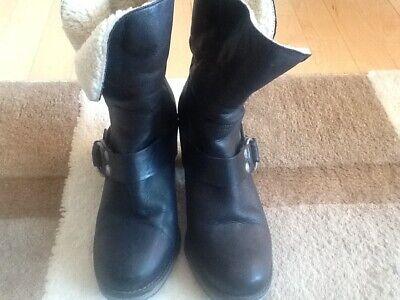 bianco stiletter med sløjfe, Chelsea Warm Boots Blå, Bianco