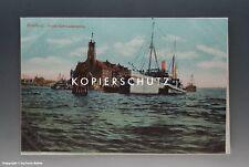 Ansichtskarte Hamburg Hafen-Kehrwiederspitze vermutlich um 1925