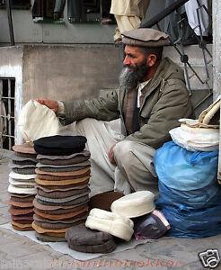 Afghan hat Pakol hat Tribal Winter Warm Top Pakul Afghan Army One ... 37989622af6c