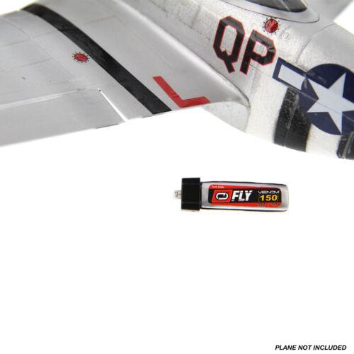 Venom Fly 30C 1S 150mAh 3.7V LiPo Battery with E-flite MCX Plug x4 Packs