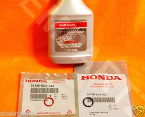 NEW GENUINE ACURA Power Steering Pump Oil O-Ring Seals /& Fluid Reseal 4 pc Kit