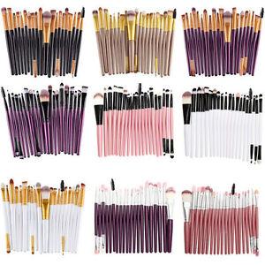 20 Pcs Pro Trousse Pinceaux Maquillage Cosmetique Makeup Brush Brosses Set Kit