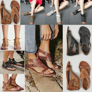 ca54b27b619 Image is loading 3-Style-Gladiator-Casual-Sandals-Women-Summer-Flats-