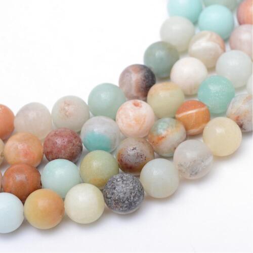 Amazonit Gemme Perles 10 mm environ pour la fabrication de bijoux À faire soi-même g829x2