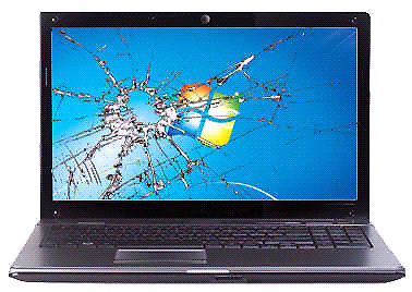 Laptop Broken LCD Screen Replacement Including Fitment