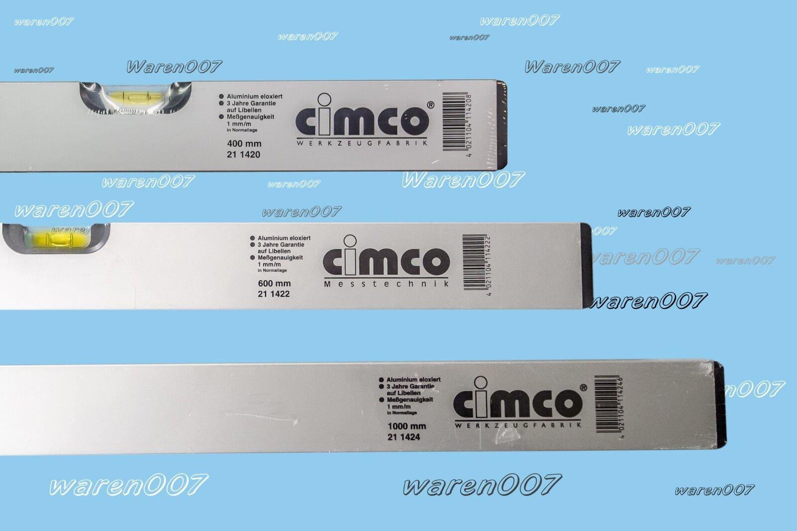 3 Set Aluminium Wasserwaage 100 60 40 cm Cimco   Sola 211424 211422 211430  NEU