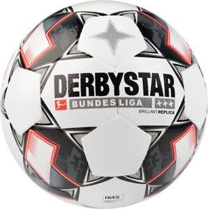 Derbystar-Trainingsball-DFL-Bundesliga-Brillant-Replica-Gr-5-weiss-Fussball-Ball