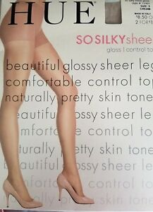 af7215828 Image is loading HUE-So-Silky-Sheer-GLOSS-Control-Top-Pantyhose-