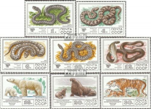SovietUnion 46784685 mint never hinged mnh 1977 Venomous and Mammals