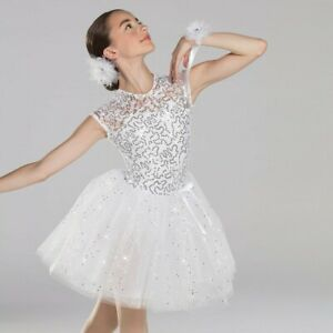 Child XS White Ballet Dress with accessories, By Revolution.