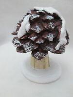 Christmas Fairy Garden Decor - Large Miniature Pinecone Toadstool