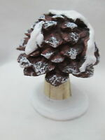 Christmas Fairy Garden Decor - Large Miniature Pinecone Toadstool