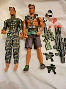 GI-Joe-1998-Mattel-2-MAX-STEEL-12-Muscle-action-Figures-Accessories-C9-10