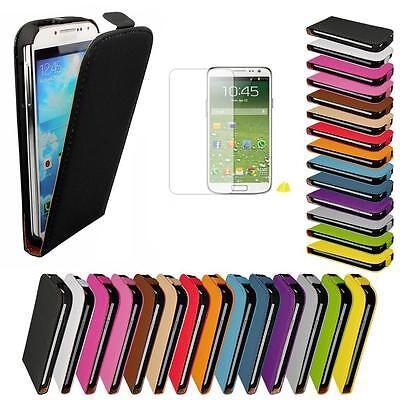 Samsung Galaxy S4 i9500 9505 Flip Case Kunstleder Tasche Cover Schutz Hülle Etui