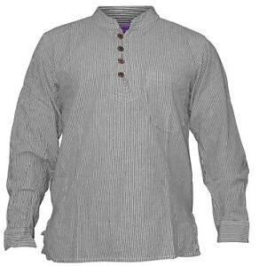 Shopoholic-Fashion-Mens-Summer-Stripy-Shirt-Full-Sleeve-Hippie-Tops