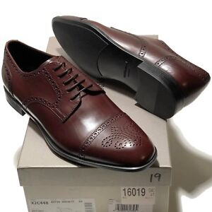 Image is loading Giorgio-Armani-Brown-Leather-Brogue-Dress-Derby-Oxford- d7334cc72a0
