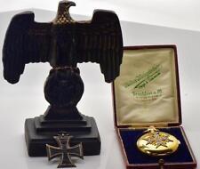 RARE WWI German General's award 14k gold&enamel REPEATER watch&Iron Cross Order