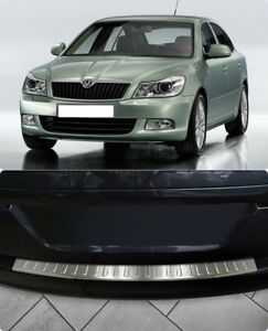 For-Skoda-Octavia-Facelift-A5-Chrome-Rear-Bumper-Protector-Scratch-Guard-S-Steel