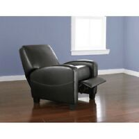 Upholstered Push Back Recliner Home Theater Living Room Seating Furniture Den
