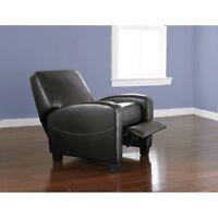 Upholstered Push Back Recliner Home Theater Living Room Seating Furniture Den