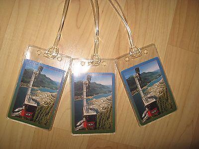 Mount Roberts Tramway Luggage Tags - Juneau Alaska AK Tram USA Name Tag Set (3)
