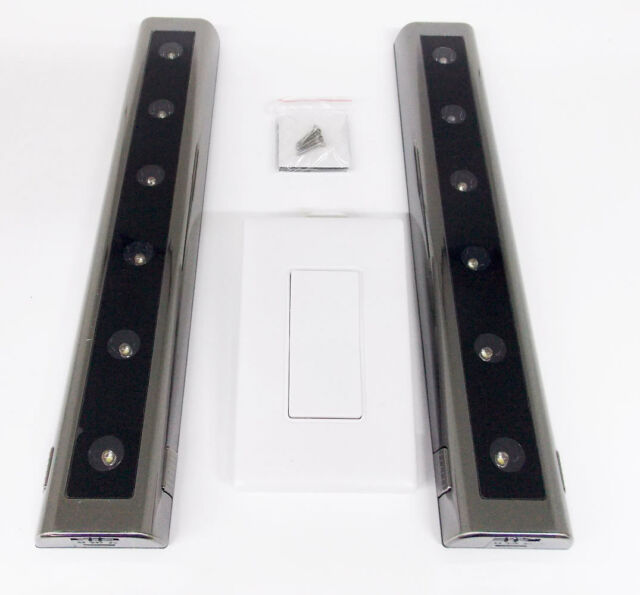 Ge Wireless 2 Pack 12 Led Light Bars Battery Ed Wall Mount Remote Control