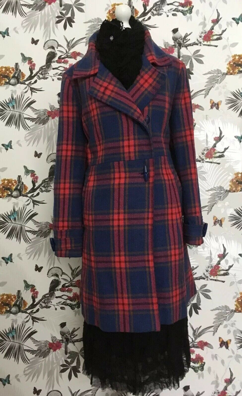 Joe Browns Purple Tartan Coat Plus Size 18