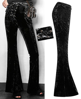 Radient Pantalon Patte D'eph évasé Gothique Lolita Fashion Vintage Velours 70's Punkrave