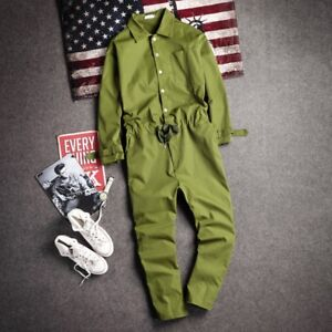 5686a5e606d Image is loading Men-Retro-Casual-Overall-Loose-Jumpsuit-Romper-Pants-