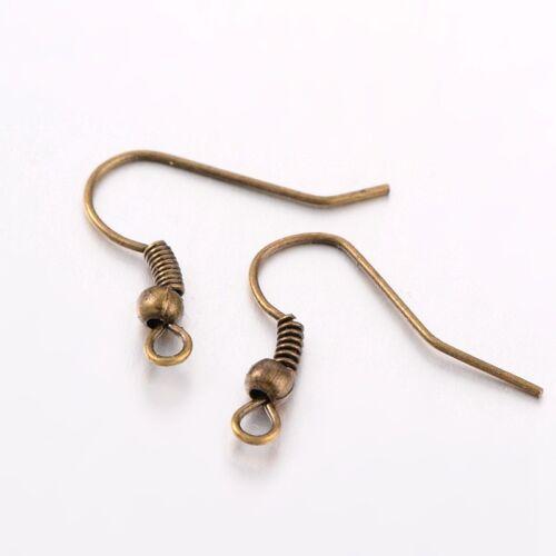 Earring Hooks Wires Fish Hooks Antique Bronze Ear Wires Nickel Free Lead Free