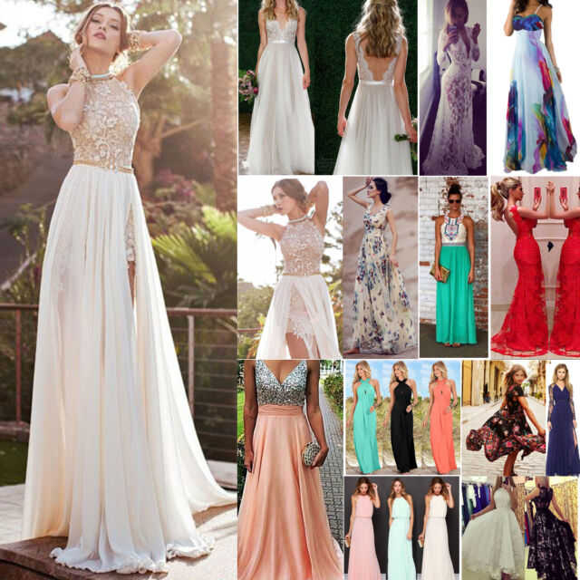 New Women Long Evening Formal Cocktail Party Ball Gown Prom Bridesmaid Dress Hot
