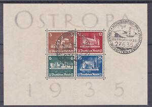 DR 1935 OSTROPA Block Sonderstempel Königsberg Ostropa 27.6.1935