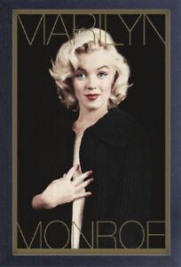 MARILYN MONROE BLACK & GOLD 13x19 incorniciato DEGREASER POSTER iconico modello regalo di bellezza