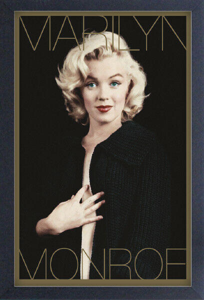 MARILYN MONROE BLACK & GOLD 13x19 incorniciato DEGREASER POSTER iconico modello regalo di bellezza