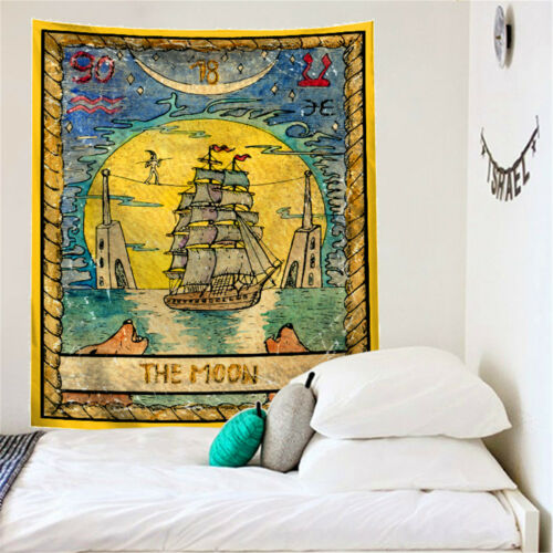 Psychedelic Tarot Tapestry Divine Medieval Witchcraft Wall Hanging Boho Carpet