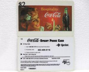 Coca-Cola-SCORE-BOARD-SPRINT-PHONE-CARD-n-14-sc-02-98-scheda-telefonica