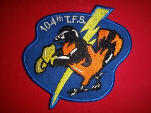 USAF Air Force 104th TACTICAL FIGHTER SQUADRON Patch