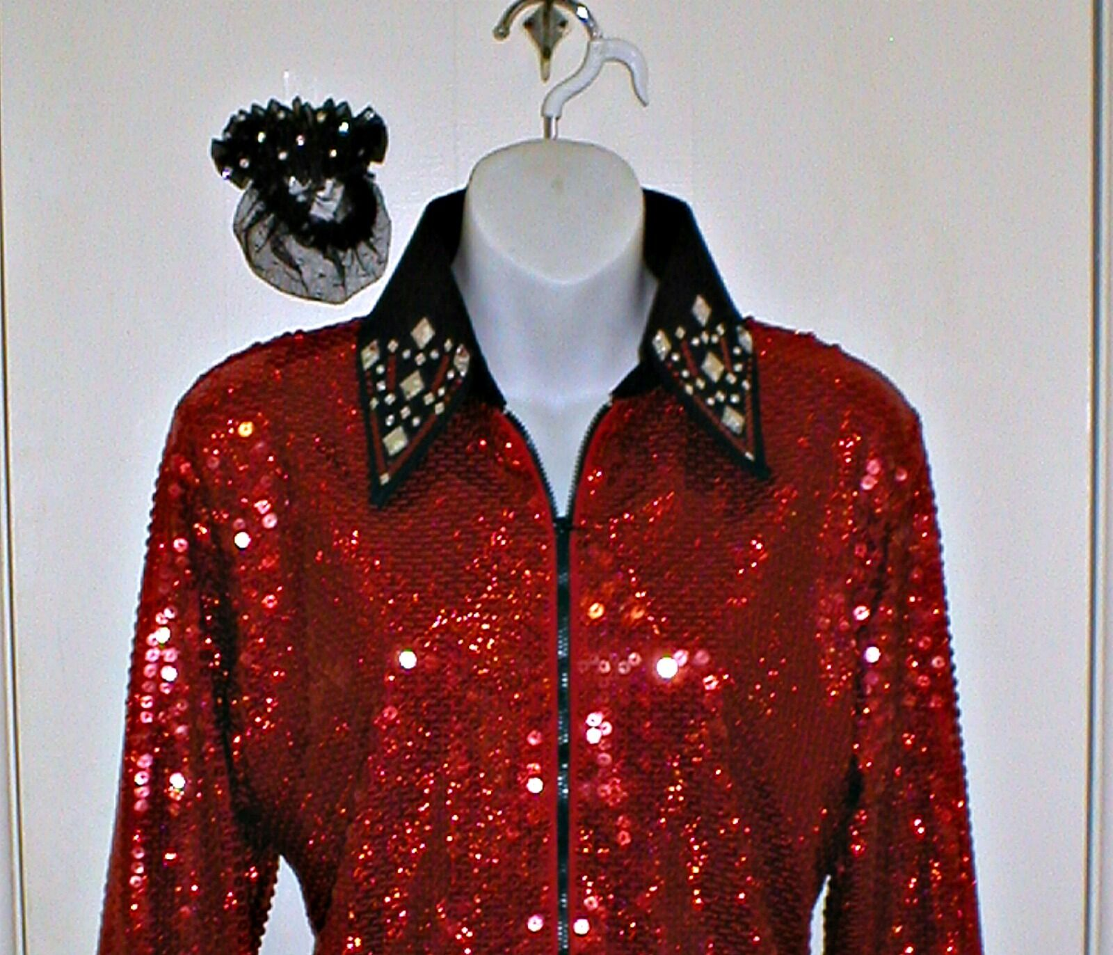 Girls rosso Sequin Western Rail, Pleasure, Rodeo, Trail, Queen & Glamour Shirt