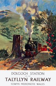 TU48-Vintage-Talyllyn-Dolgoch-Wales-Railway-Travel-Poster-Print-A2-A3
