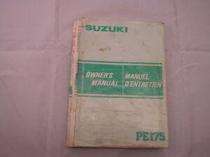 SUZUKI-PE175-1983-OWNERS-MANUAL-MANUEL-DU-PROPRIETAIRE