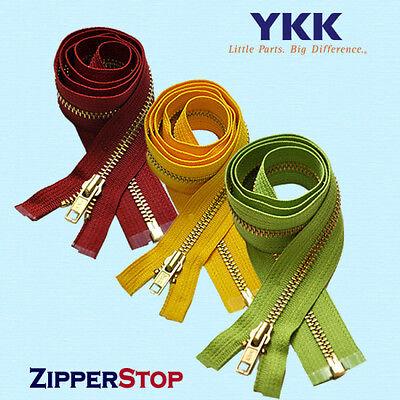 """Pink 513 14/"""" to 36/"""" #5 Aluminum Separating Jacket Zippers YKK ~ ZipperStop"""