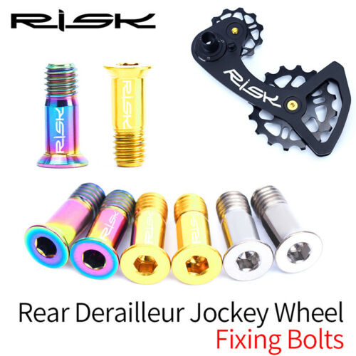 2PCS Titanium Alloy Rear Derailleur Jockey Wheel Fixing Bolts For Road MTB Bike