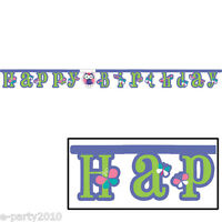 Patchwork Owl Banner 1st Birthday Party Supplies Room Hanging Decorations Cute