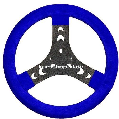 Kart Handlebar Suede 280 mm bluee Steering Wheel Bambini Energy, Top